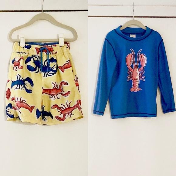 25d2ee88a9 Carter's Swim | Carters Lobster Rashguard Bathing Suit | Poshmark